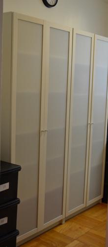 ikea shelves w/doors
