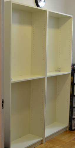 Ikea shelves w/o doors