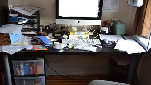Kim's desk