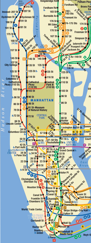 Post 911 Subway Map.9 11 Ten Years Later The Meandering Mind