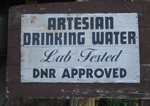Artesian water sign