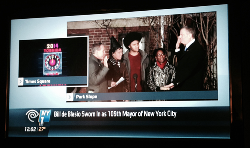 Swearing in of Bill de Blasio - 109th mayor of NYC